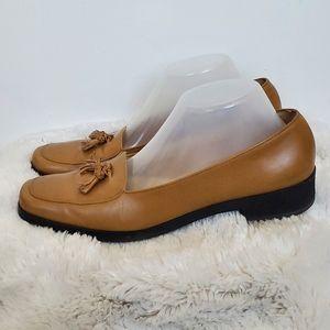 Salvatore Ferragamo Brown Tassled Loafers 10 A